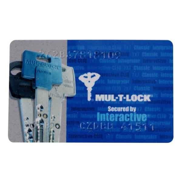 Double de clé Mul-T-Lock Interactive+ Maillechort