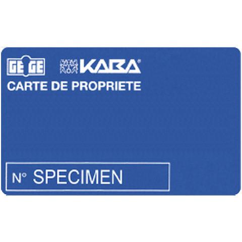 Double de clé Kaba Gege ANS2