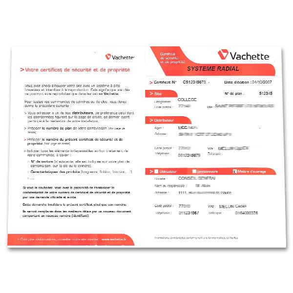 Double de clé Vachette Vip+